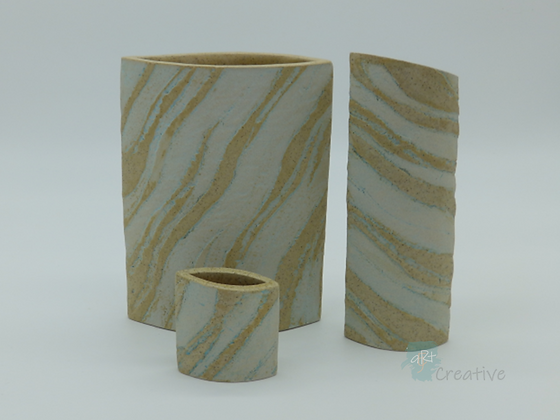 Seashore Textured Ellipse Vase (various sizes)