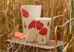 Poppy Floral Vase