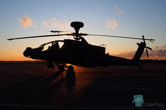 Apache at Sunset - Robert Fry