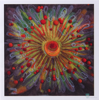 Square Art Cards: Prints of Needle Felting - by Annie Browns