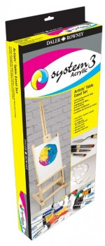 Table Easel & Acrylic Paint Set (Daler Rowney: System 3)