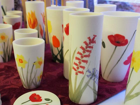 Floral Cylinder Vase Small/Large - Emma Jayne Robertson