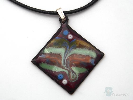 Necklace: Swirled Enamelled Diamond - Toni Peers