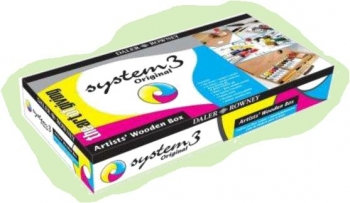 Acrylic Paint Set in Wooden Box (Daler Rowney: System 3)