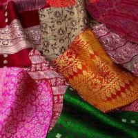 Fabric: Sari Squares (Pack of 12)