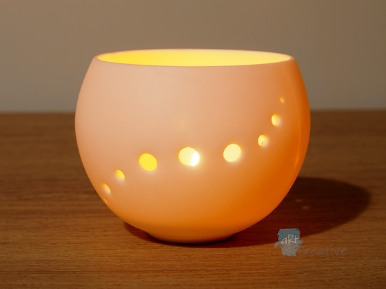 Pierced Ceramic Orb Tealight Holder - Emma Jayne Robertson