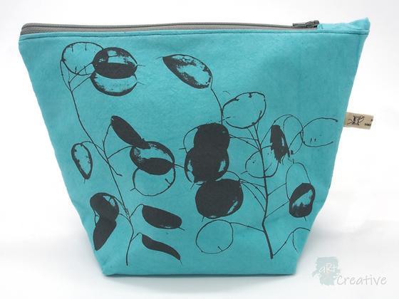 Large Washbag (Honesty Seed- Turquoise) - Danielle Wade