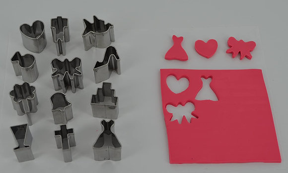 Cutters: Mini Shape Metal Cutters - Set 6 - Wedding
