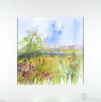 Summer Meadow 1 - Helen Clarke (mounted)