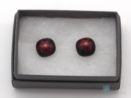 Fused Glass 'Murrine Dots' Stud Earrings  - Louise Ferrier