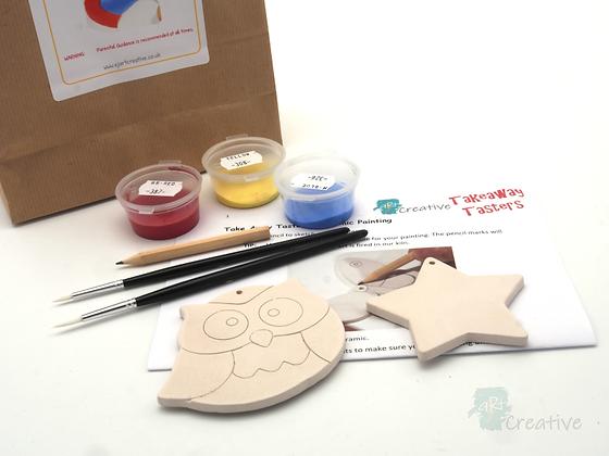 Takeaway Taster - Ceramic Painting - Night Owl