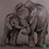 Thumbnail: Elephant - Briony Howell (framed print)