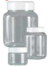 Clear Plastic Jar with Screw on Lid (1000ml)