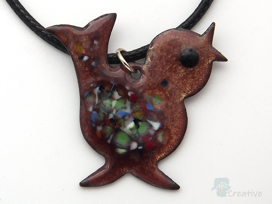 Necklace: Enamelled Bird - Toni Peers