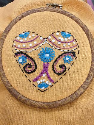 Hand Embroidery - Hearts II - Takeaway Taster by TammiR
