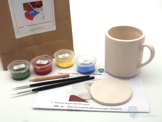 Ceramic Painting - Mug with Coaster - Takeaway Taster