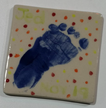 Takeaway Taster -  'Making Memories' Print Tile-Ceramic Painting -
