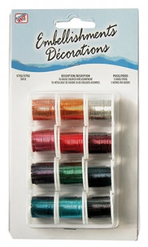 Coloured Craft Wire Assorted Spools (12 x 26g x 4.5m)