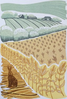 Over the Cornfield - Helen Maxfield (Mounted)