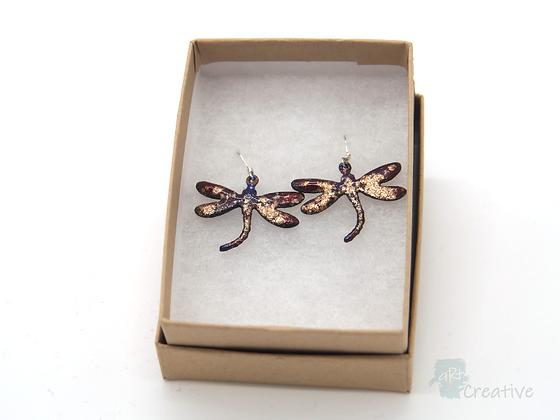 Earrings: Enamelled Dragonflies - Toni Peers