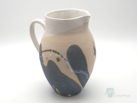 Large Jug in 'Sea Beach' Design by Sue Bowerman