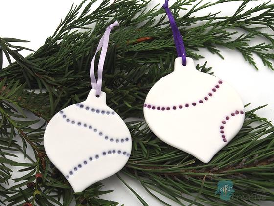 Christmas Decorations Translucent 'Baubles'