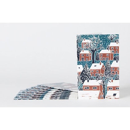 Note Cards x 8: Winter Houses by James Green