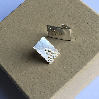 Sterling Silver Earrings with 18ct Gold Sprinkles