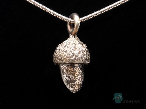 Silver Acorn Pendant - Helen Smith