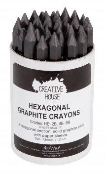 Graphite: Hexagonal Crayon (various grades)