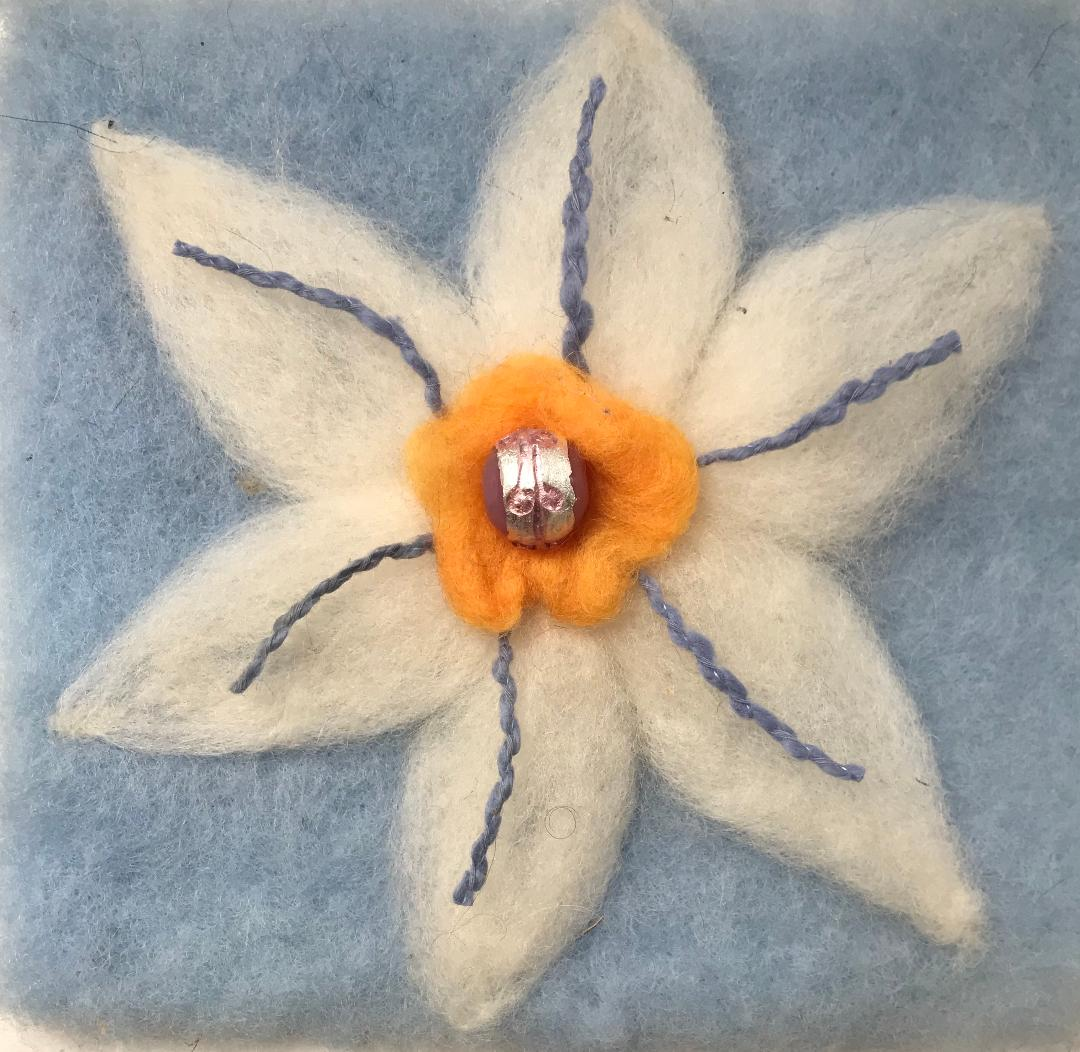 Needle-Felted Flower