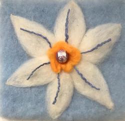 Needle-Felted Flower