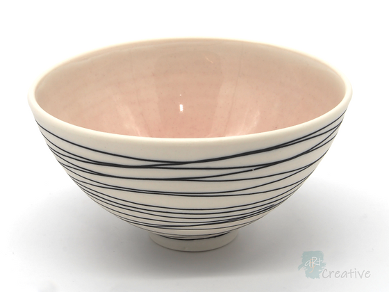 'Drift' Bowl (Pink) - Sue Bowerman