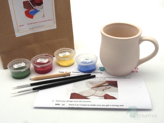 Takeaway Taster - Ceramic Painting - Mug (Curved)