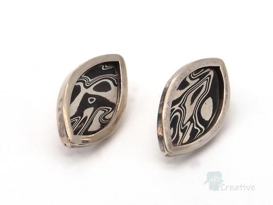 Silver Leaf Stud Earrings - Helen Smith