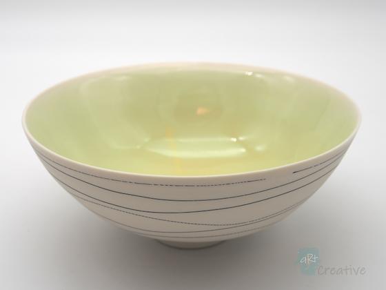 Bowl 'Drift ' Pale Green - Sue Bowerman