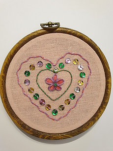 Hand Embroidery - Hearts I - Takeaway Taster by TammiR