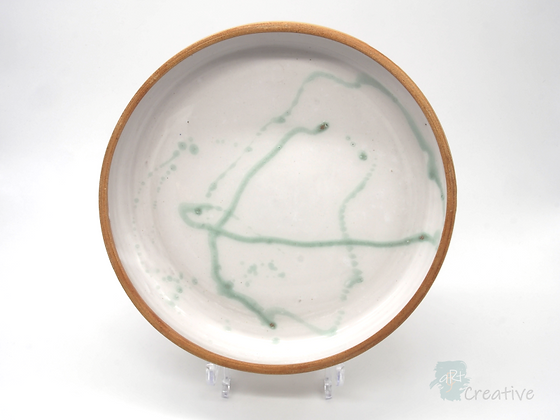 Large Shallow Dish with Curved Side 'Shoreline' - Sue Bowerman