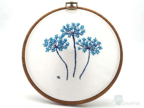 Seedheads #002 - Takeaway Taster - Hand Embroidery - by TammiR