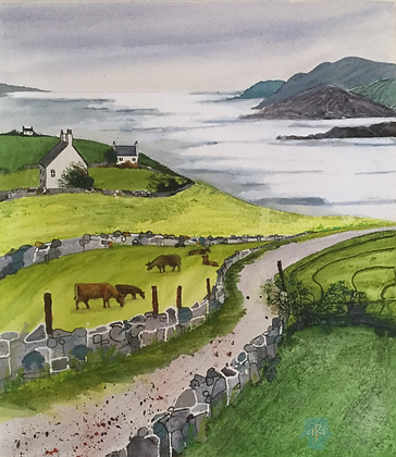 Fieldlines Coastal 2- Caroline Furlong (framed)