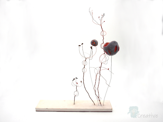 3D Felt & Wire Sculpture- Tracy Hetherington