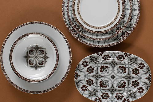 Huma Brown Dinner Set 32 pcs. for 6 People