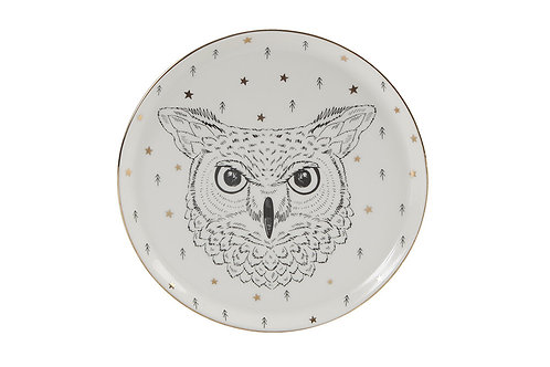 Forest Owl Flat Plate 20cm