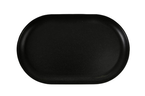 Seasons Black Oval Plate 32cm
