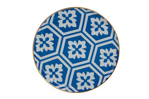 Morocco Blue Flat Plate 20cm
