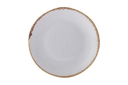 Seasons Grey Flat Plate 24cm