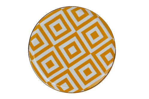 Morocco Yellow Flat Plate 20cm