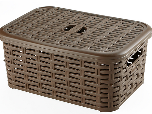 Small Rattan box with lid