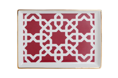 Morocco Burgandy Breakfast Plate 18cm