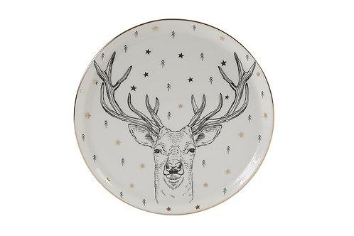 Forest Deer Flat Plate 20cm